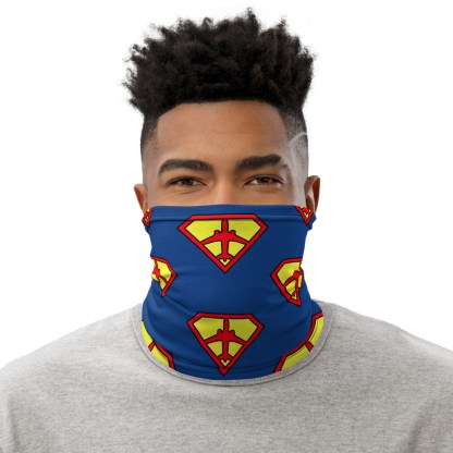 airplaneTees SuperPilot Face Mask/Face Covering/Neck Gaiter 1