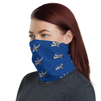 airplaneTees SuperPlane Face Mask/Face Covering/Neck Gaiter - Dark Blue 3