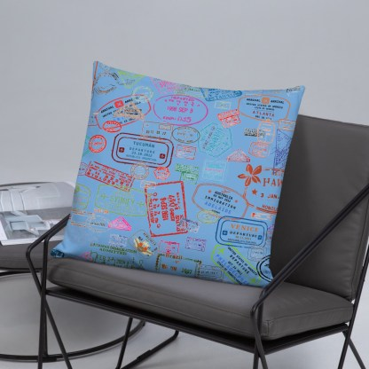 airplaneTees Going Places Pillow - Light Blue 32