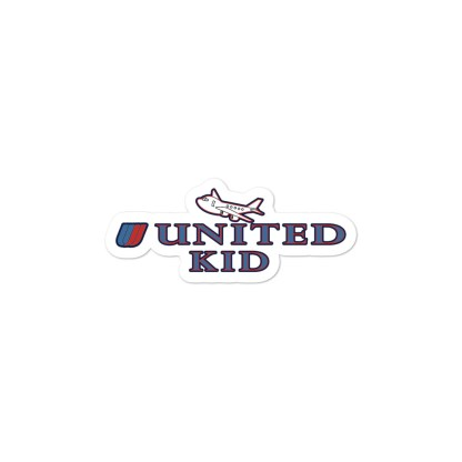 airplaneTees United Kid Stickers... Bubble-free 2