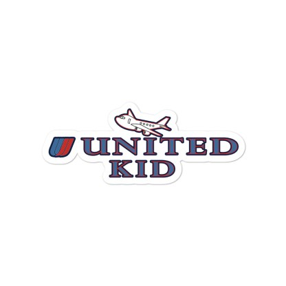 airplaneTees United Kid Stickers... Bubble-free 3