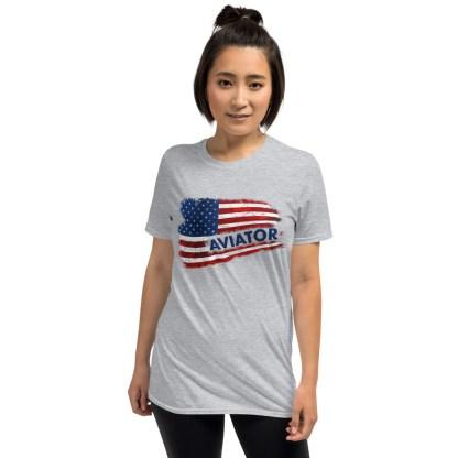 airplaneTees Aviator US Flag tee... Short-Sleeve Unisex 5