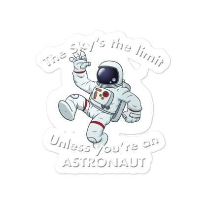 airplaneTees The Sky's the limit sticker - Option 1... Bubble-free 3