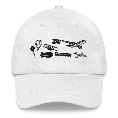 airplaneTees Evolution of Flight Dad hat 9
