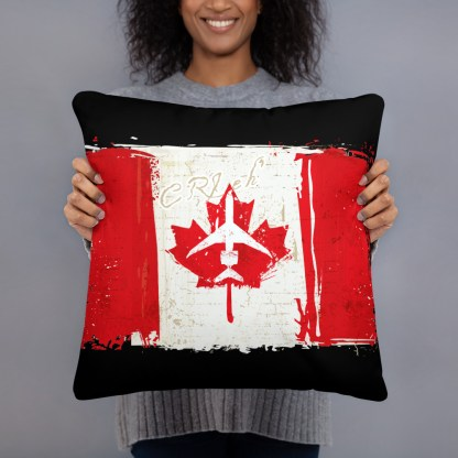 airplaneTees Canada CRJ eh Pillow - Different Images on each side 5