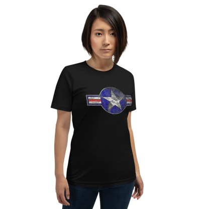airplaneTees Roundel US Armed Forces tee weathered...Short-Sleeve Unisex T-Shirt 4