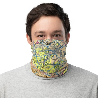 airplaneTees DEN - Denver VFR Sectional Face Mask/Face Covering/Neck Gaiter 2