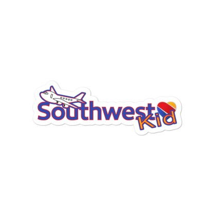airplaneTees Southwest Kid Stickers... Bubble-free 3