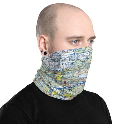 airplaneTees DCA - Washington Reagan VFR Sectional Face Mask/Face Covering/Neck Gaiter 2