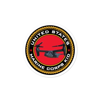 airplaneTees US Marine Corps Kid Stickers... Bubble-free 2