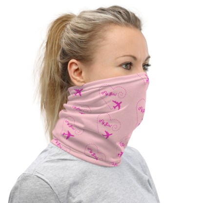 airplaneTees Fly Girl Face Mask/Face Covering/Neck Gaiter 2