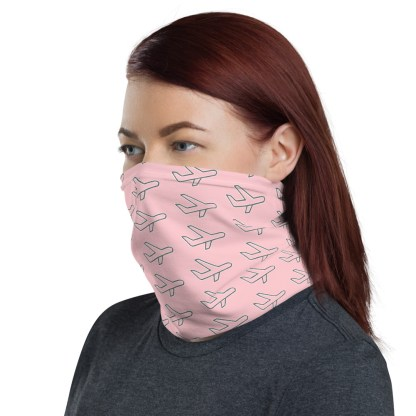airplaneTees Airplane Face Mask/Face Covering/Neck Gaiter - Pink 3