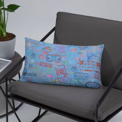airplaneTees Going Places Pillow - Light Blue 5