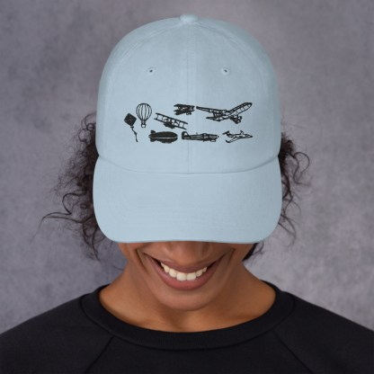 airplaneTees Evolution of Flight Dad hat 3