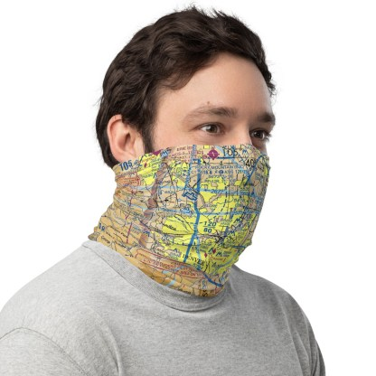 airplaneTees DEN - Denver VFR Sectional Face Mask/Face Covering/Neck Gaiter 3