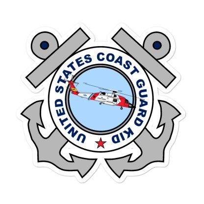airplaneTees US Coast Guard Kid Stickers... Bubble-free 1