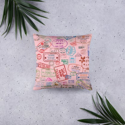 airplaneTees Going Places Pillow - Pink 4