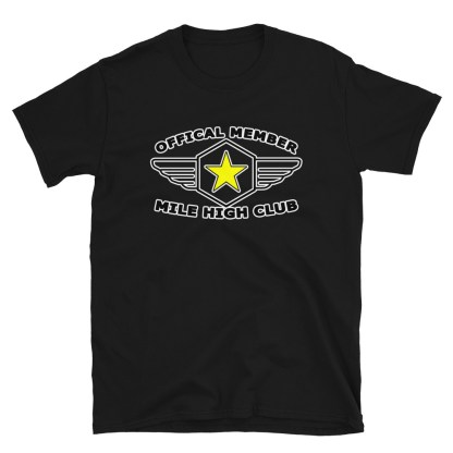 airplaneTees Official Member Mile High Club Tee Short-Sleeve Unisex 5