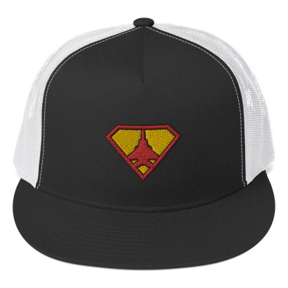 airplaneTees Super Fighter Pilot Hat... Trucker Cap 2