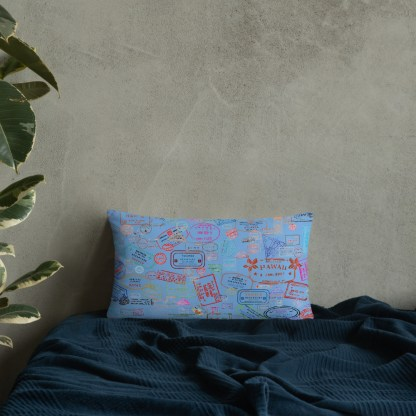 airplaneTees Going Places Pillow - Light Blue 13