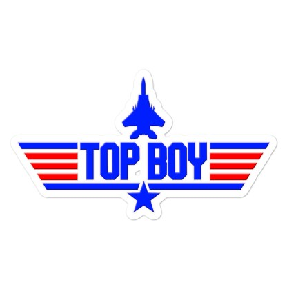 airplaneTees Top Boy stickers... Bubble-free 1