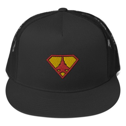 airplaneTees Super Fighter Pilot Hat... Trucker Cap 3