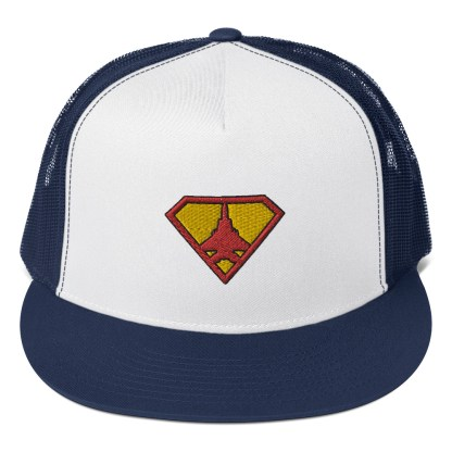 airplaneTees Super Fighter Pilot Hat... Trucker Cap 6
