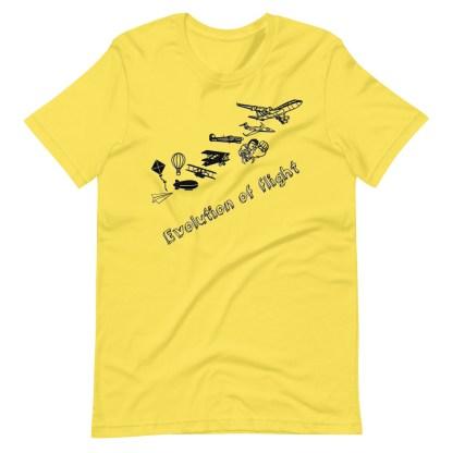 airplaneTees Evolution of Flight... Short-Sleeve Unisex T-Shirt 1