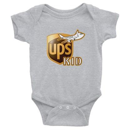 airplaneTees UPS Kid Onesie... Rabbit Skins... Infant Bodysuit 1