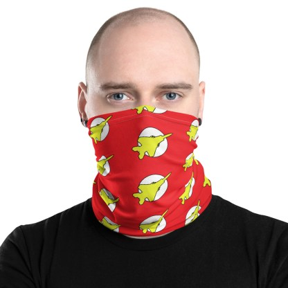 airplaneTees Fighter Flash Face Covering/Neck Gaiter 1
