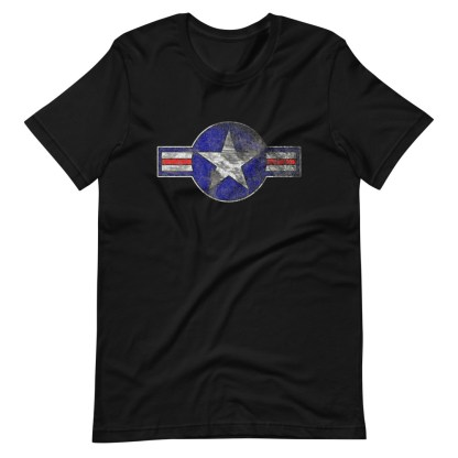 airplaneTees Roundel US Armed Forces tee weathered...Short-Sleeve Unisex T-Shirt 7