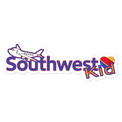 airplaneTees Southwest Kid Stickers... Bubble-free 4
