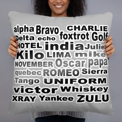airplaneTees Phonetic Alphabet Pillow 2