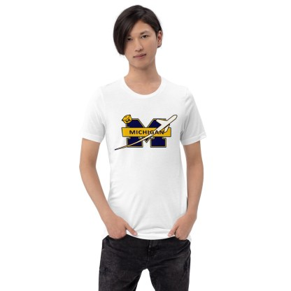 airplaneTees Michigan Wolverines Tee, with an airplane... Short-Sleeve Unisex 2