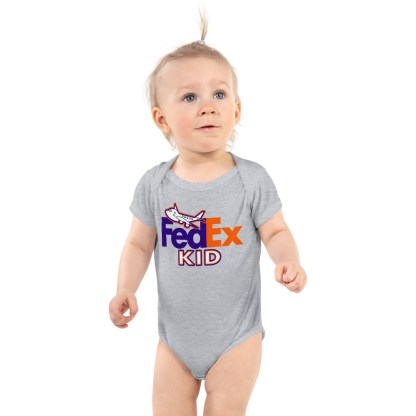 airplaneTees FedEx Kid Onesie... Rabbit Skins... Infant Bodysuit 2