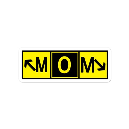 airplaneTees Mom stickers... Bubble-free... runway art 3