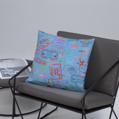 airplaneTees Going Places Pillow - Light Blue 18