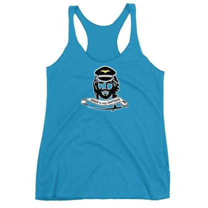 airplaneTees Jesus is my Captain tank top... Women's Racerback Tank 8