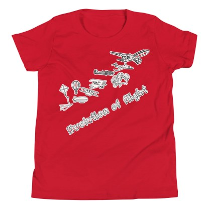 airplaneTees Evolution of Flight Youth Tee... Short Sleeve 12