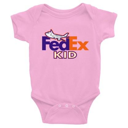 airplaneTees FedEx Kid Onesie... Rabbit Skins... Infant Bodysuit 4