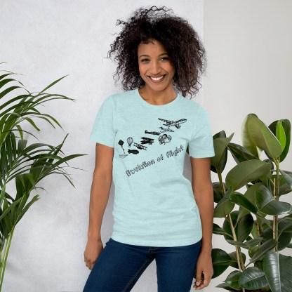 airplaneTees Evolution of Flight... Short-Sleeve Unisex T-Shirt 7