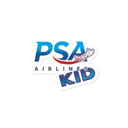 airplaneTees PSA Airlines Kid stickers... Bubble-free 2