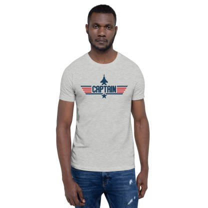 airplaneTees Captain Maverick Style Tee... Short-Sleeve Unisex 2