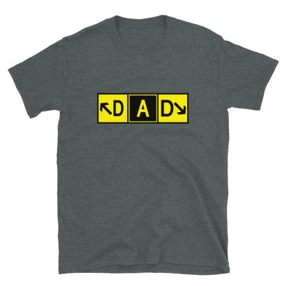 airplaneTees DAD Taxiway Art Tee... Short-Sleeve Unisex T-Shirt 7