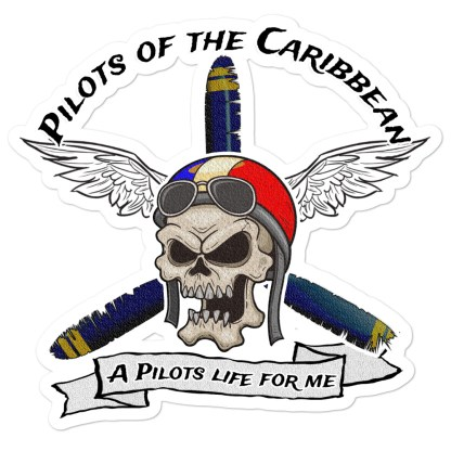 airplaneTees Pilots of the Caribbean Stickers... Bubble-free 1