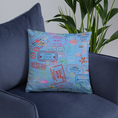airplaneTees Going Places Pillow - Light Blue 26