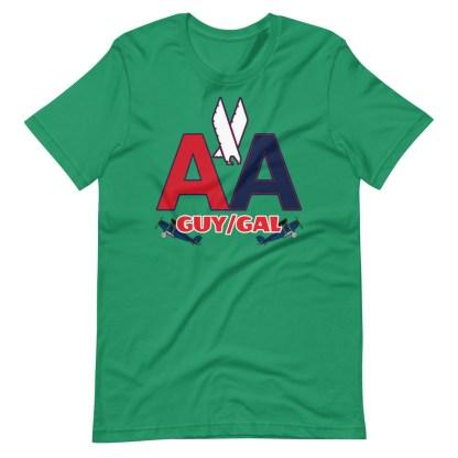 airplaneTees CUSTOM AA Tee, American Guy/Gal Tee Short-Sleeve Unisex 10