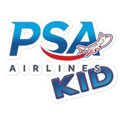 airplaneTees PSA Airlines Kid stickers... Bubble-free 1