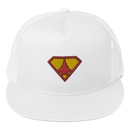airplaneTees Super Fighter Pilot Hat... Trucker Cap 9