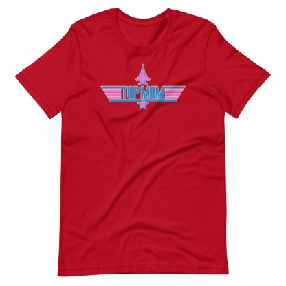 airplaneTees Top Mom tee in Pink... Short-Sleeve Unisex 14